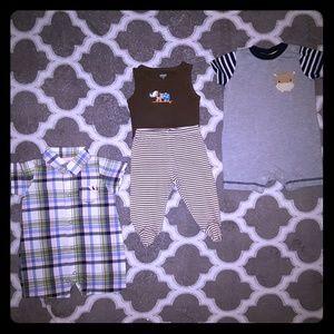 Infant Baby Boy Lot Of 4, Size 3m & 3-6m
